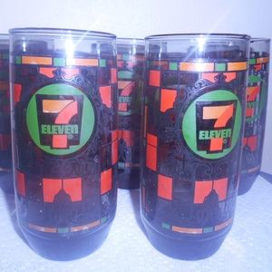 7-11 Vintage glasses - Promotional 1970's